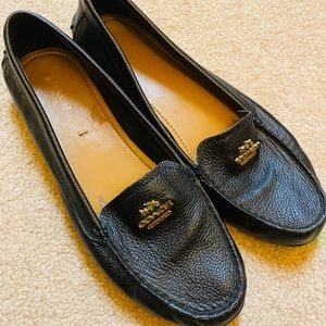Coach leather flats 9 size